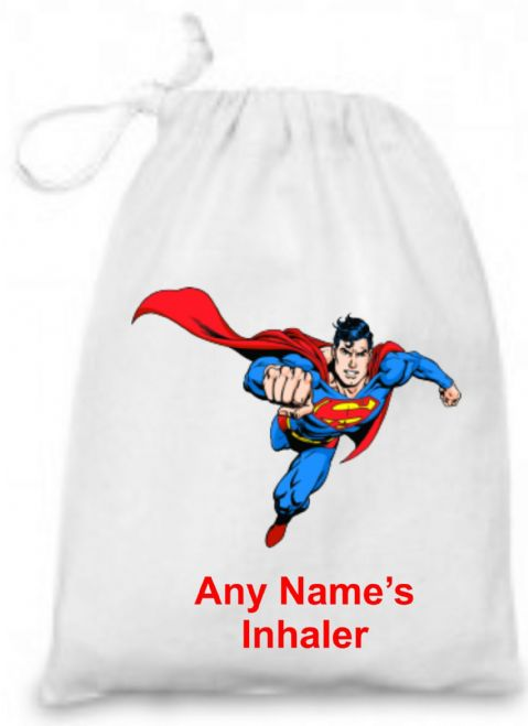Superman Medicine/Inhaler  Bag